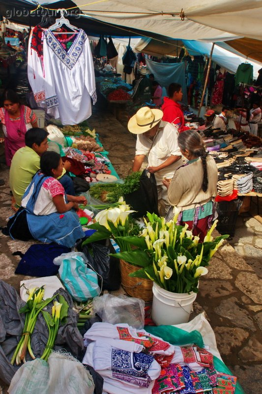 Mexico, Cuetzalan, domingo de mercado